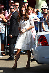 The Duke and Duchess of Cambridge visit the Sydney Royal Easter Show in Sydney, Australia, Good Friday, 18th April 2014. Picture by Media-Mode / i-Images<br /> UK ONLY