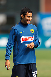 July 16, 2011; San Francisco, CA, USA;  Club America forward Daniel Martinez (24) warms up before the game against Manchester City at AT&T Park. Manchester City defeated Club America 2-0.