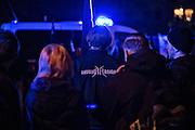 Magdeburg | 18 Jan 2014<br /> <br /> ACHTUNG BESONDERE HONORARKONDITIONEN!<br /> <br /> Am Samstag (19.01.2014) marschierten etwa 1000 Neonazis bei einem &quot;Gedenkmarsch&quot; durch Magdeburg, um der Bombardierungen der Stadt im 2. Weltkrieg zu &quot;gedenken&quot;.<br /> Hier: Neonazi mit einer Jacke der Marke &quot;Ansgar Aryan&quot; bei der Zwischenkundgebung der Demo.<br /> <br /> &copy;peter-juelich.com<br /> <br /> [No Model Release | No Property Release]