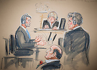 31/10/2001.Drawing, by Court artist Patrica Coleman, of Roman Abramovich appearing at the High Court.
