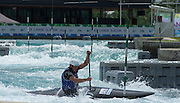 London, Great Britain. Generial View of the compitition area at the 2014 ICF Canoe Slalom World Cup at the Lee Valley White Water Centre, Enfield England<br /> <br /> <br /> 11:16:46  Thursday  05/06/2014<br /> <br /> [Mandatory Credit; Peter Spurrier/Intersport-images]