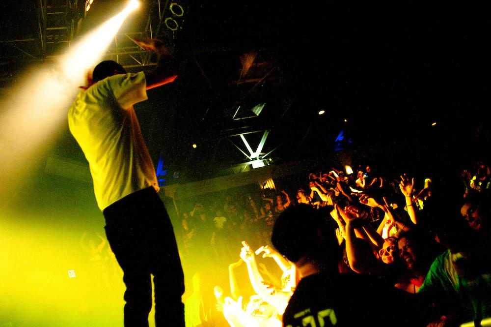 Washington, DC, November 3, 2010 - Bassnector thumps a sold-out 930 Club.