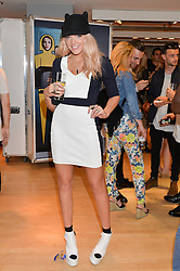 DJ BECCA DUDLEY at the French Connection #NeverMissATrick Launch Party held at French Connection, 396 Oxford Street, London on 23rd July 2014.