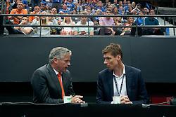 15-09-2019 NED: EC Volleyball 2019 Netherlands - Poland, Rotterdam<br /> First round group D - Poland win 3-0 / Peter Sprenger en Bas van de Goor
