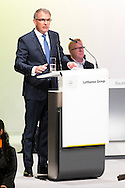 CEO of Lufthansa German Airlines, Carsten Spohr speaks during the Lufthansa AGM at Congress Center Hamburg, Hamburg<br /> Picture by EXPA Pictures/Focus Images Ltd 07814482222<br /> 28/04/2016<br /> ***UK &amp; IRELAND ONLY***<br /> EXPA-EIB-160428-0051.JPG