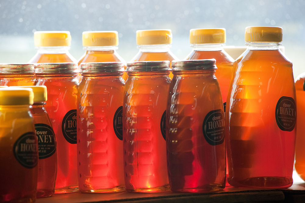 Bottles of honey