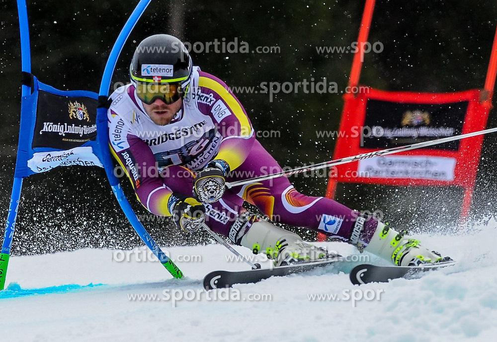 01.03.2015, Kandahar, Garmisch Partenkirchen, GER, FIS Weltcup Ski Alpin, Garmisch Partenkirchen, Riesenslalom, Herren, 1. Lauf, im Bild Kjetil Jansrud (NOR) // Kjetil Jansrud of Norway in action during 1st run for the men's Giant Slalom of the FIS Ski Alpine World Cup at the Kandahar in Garmisch Partenkirchen, Germany on 2015/03/01. EXPA Pictures © 2015, PhotoCredit: EXPA/ Erich Spiess