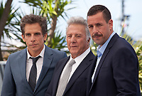 Ben Stiller, Dustin Hoffman and Adam Sandler at  The Meyerowitz Stories film photo call at the 70th Cannes Film Festival Sunday 21st May 2017, Cannes, France. Photo credit: Doreen Kennedy