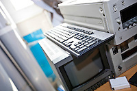 Monitor and VCR in television station
