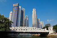 Singapour. Le Busness center depuis la Marina. // Singapore. Busness center from the Marina.