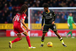 Ellis Harrison of Bristol Rovers takes on Kory Roberts of Walsall - Mandatory by-line: Robbie Stephenson/JMP - 26/12/2017 - FOOTBALL - Banks's Stadium - Walsall, England - Walsall v Bristol Rovers - Sky Bet League One