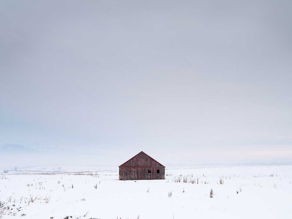 Red Barn near Hamilton, Montana.