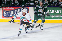 KELOWNA, CANADA - JANUARY 08: Devante Stephens #21 of Kelowna Rockets skates against the Everett Silvertips on January 8, 2016 at Prospera Place in Kelowna, British Columbia, Canada.  (Photo by Marissa Baecker/Shoot the Breeze)  *** Local Caption *** Devante Stephens;