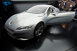 Peugeot SR1 concept turbo diesel hybrid car at Paris Motor Show 2010