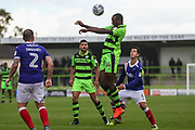 Forest Green Rovers Shamir Mullings(14) heads the ball during the EFL Sky Bet League 2 match between Forest Green Rovers and Exeter City at the New Lawn, Forest Green, United Kingdom on 9 September 2017. Photo by Shane Healey.