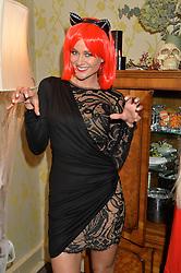 KIM JOHNSON at the Bumpkin Halloween Dinner hosted by Marissa Hermer held at Bumpkin, 119 Sydney Street, London on 23rd October 2014.