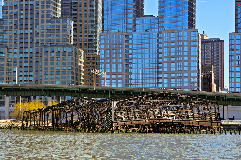 Trump PLace,  Riverside South Park, Upper West Side,  Manhattan, New York City, New York, USA Riverside South, West Side Highway, abandoned pier, Manhattan, New York City, New York, USA