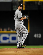 Jun. 18 2011; Phoenix, AZ, USA; Chicago White Sox pitcher John Danks (50) delivers a pitch against the Arizona Diamondbacks at Chase Field. The White Sox defeated the Diamondbacks 6-2. Mandatory Credit: Jennifer Stewart-US PRESSWIRE..