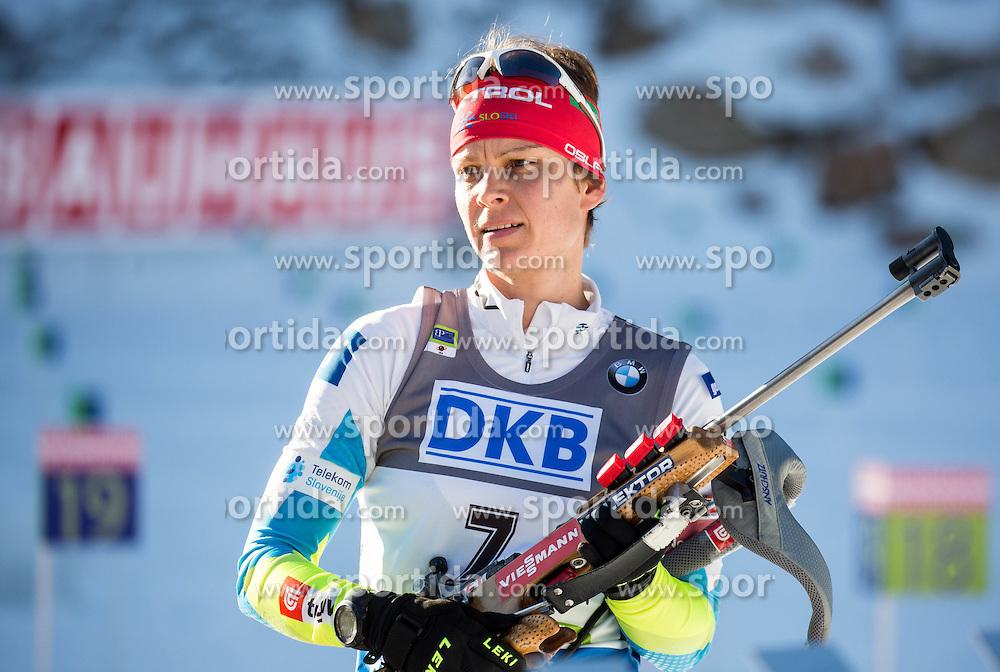 Teja Gregorin (SLO) during Women 7,5 km Sprint at day 2 of IBU Biathlon World Cup 2015/16 Pokljuka, on December 18, 2015 in Rudno polje, Pokljuka, Slovenia. Photo by Vid Ponikvar / Sportida