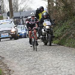 25-02-2017: Wielrennen: Omloop Het Nieuwsblad: Gent  <br />Ellen van Dijk in de ontsnapping die de koers opende