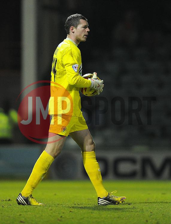 Yeovil Town's Chris Dunn - Photo mandatory by-line: Joe Meredith/JMP - Tel: Mobile: 07966 386802 03/12/2013 - SPORT - Football - Yeovil - Huish Park - Yeovil Town v Blackpool - Sky Bet Championship
