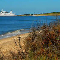 Cape May  - Lewes Ferry leaves a New Jersey inlet enroute to its Lewes, DE destination.