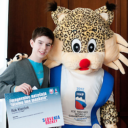 20120313: SLO, Ice Hockey - Intruduction of Official mascot for IIHF WC 2012 at HZS press conference