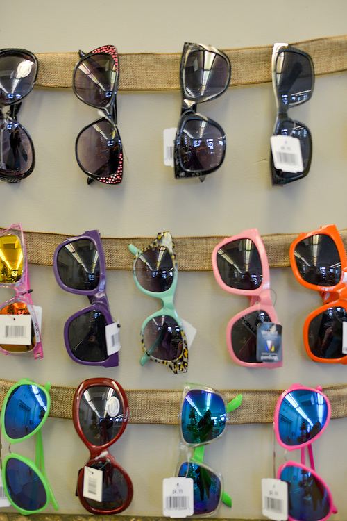Plenty of sunglasses at blue boutique in Downtown Akron