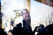 Former Maryland Governor and 2016 Democratic presidential candidate, Martin O'Malley, speaks to a potential supporter while canvassing a neighborhood in Johnston, IA on January 31, 2016. O'Malley is in Iowa campaigning in the final days before the Iowa Caucus.<br /> <br /> The Iowa Caucus is the first major electoral event of the nominating process for President of the United States. Both the Democratic and Republican Iowa Caucus will occur on February 1, 2016.