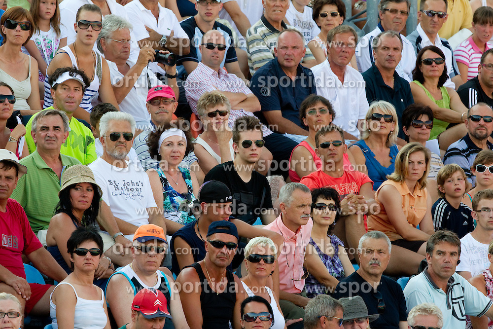 Spectators at 2nd Round of Singles at Banka Koper Slovenia Open WTA Tour tennis tournament, on July 21, 2010 in Portoroz / Portorose, Slovenia. (Photo by Vid Ponikvar / Sportida)