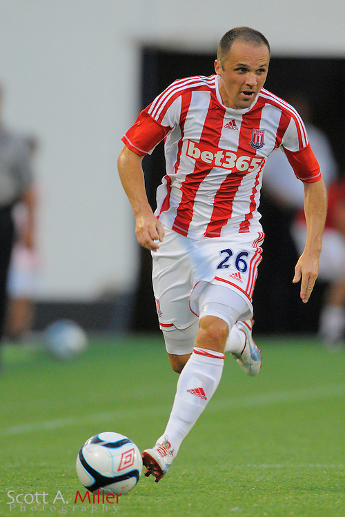 Stoke City Potters midfielder Matthew Etherington (26) in action against the Orlando City Lions at the Florida Citrus Bowl on July 28, 2012 in Orlando, Florida. Stoke won 1-0...© 2012 Scott A. Miller.