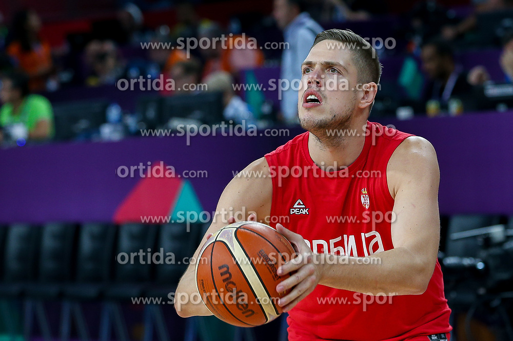 Vladimir Stimac of Serbia prior to the Final basketball match between National Teams  Slovenia and Serbia at Day 18 of the FIBA EuroBasket 2017 at Sinan Erdem Dome in Istanbul, Turkey on September 17, 2017. Photo by Vid Ponikvar / Sportida