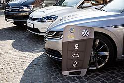 Presentation of VW Volkswagen car company as an official mobility partner of Futsal EURO 2018 in Ljubljana, Slovenia, on September 28, 2017. Photo by Vid Ponikvar / Sportida