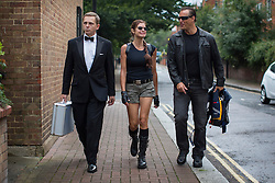 © licensed to London News Pictures. London, UK 22/08/2013. City Cruises launching their new Thamesjet, jet powered RIB, speedboat ride service with Daniel Craig, Angelina Jolie and Arnold Schwarzenegger lookalikes on Thursday, 22 August 2013 in central London. Photo credit: Tolga Akmen/LNP