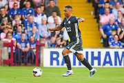 Youri Tielemans of Leicester City (8) in action during the Pre-Season Friendly match between Scunthorpe United and Leicester City at Glanford Park, Scunthorpe, England on 16 July 2019.