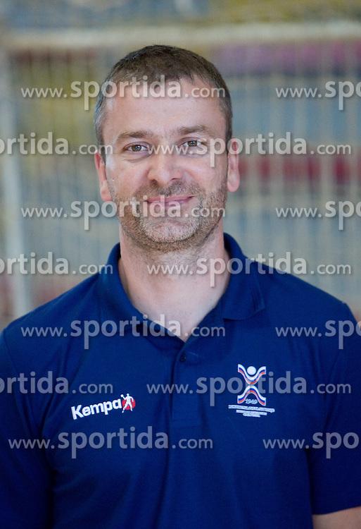 Portrait of Bostjan Brulec, assistant coach of Slovenian Handball Women National Team, on June 3, 2009, in Arena Kodeljevo, Ljubljana, Slovenia. (Photo by Vid Ponikvar / Sportida)
