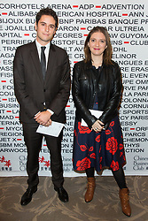 Semi-Exclusive - Gabriel Attal Depute LREM Haut de Seine, Aurore Berge Depute LREM Yveline at Chinese Business Club France China official Lunch at Four Seasons George V Hotel on October 21, 2017 in Paris, France. Photo by Nasser Berzane/ABACAPRESS.COM