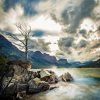 saint mary lake storm wildgoose island glacier national park