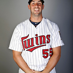 Feb 19, 2013; Fort Myers, FL, USA; Minnesota Twins infielder Chris Colabello (55) poses for a portrait during photo day at Hammond Stadium. Mandatory Credit: Derick E. Hingle-USA TODAY Sports