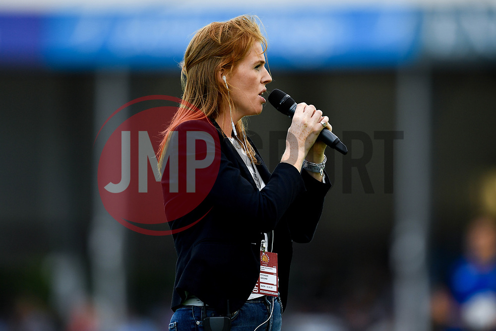 Clare Lash Williams prior to kick off - Mandatory by-line: Ryan Hiscott/JMP - 21/09/2019 - RUGBY - Sandy Park - Exeter, England - Exeter Chiefs v Bath Rugby - Premiership Rugby Cup