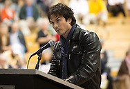 Nov. 12, 2014  Mandeville, LA, Ian Somerhalder speaking against frackng at a permit hearing in St. Tammany Parish LA. <br /> Helis OIl applied for a drilling project for the first fracking project in St. Tammany Parish where Somerhalder is from. <br /> Born and raised in Covington LA, Somerhalder expressed his love or the area, and the need to protect the wetlands, where he says, fracking had no place.