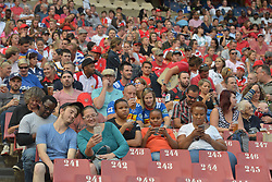 070418 Emirates Airlines Park, Ellis Park, Johannesburg, South Africa. Super Rugby. Lions vs Stormers. Rugby fans check their cell phones and take selfies during the game.<br />Picture: Karen Sandison/African News Agency (ANA)