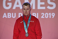 Abu Dhabi, United Arab Emirates - 2019 March 15: Krzysztof Wieczorek from SO Poland took second place and silver medal in roller skating during Special Olympics World Games Abu Dhabi 2019 on March 15, 2019 in Abu Dhabi, United Arab Emirates. (Mandatory Credit: Photo by (c) Adam Nurkiewicz)