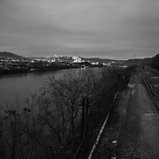 Monongahela River and US Steel in Distance, Homestead, PA