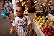COOL KID IN SHADES AND SPIDERMAN T SHIRT RIO