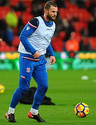 Erik Pieters of Stoke City warms up - Mandatory by-line: Nizaam Jones/JMP - 31/01/2018 - FOOTBALL - Bet365 Stadium - Stoke-on-Trent, England - Stoke City v Watford - Premier League