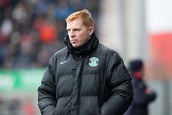 Hibernian's manager Neil Lennon. Falkirk 1 v 2 Hibernian, Scottish Championship game played 31/12/2016 at The Falkirk Stadium .