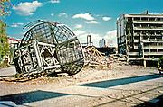 Pristina Kosova Bombed TV station