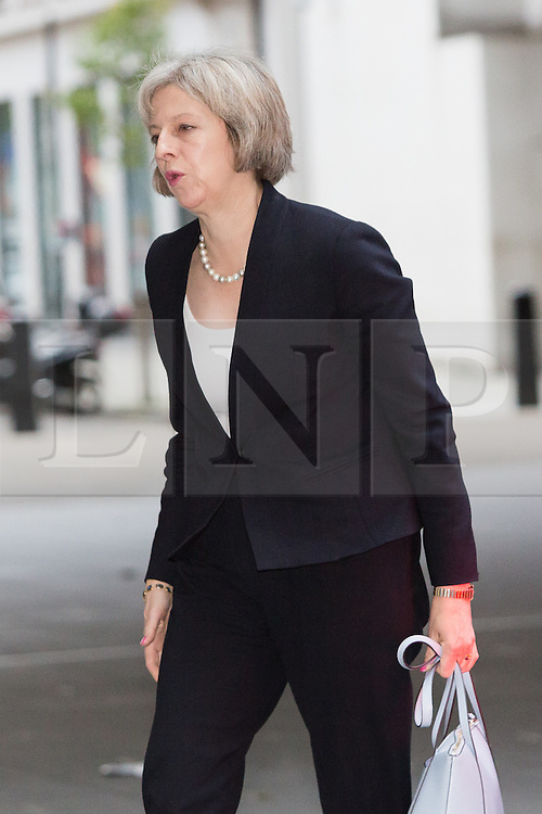 © Licensed to London News Pictures. 15/11/2015. London, UK. Home Secretary, THERESA MAY arrives at BBC Broadcasting House in London to appear on the Andrew Marr Show. Photo credit : Vickie Flores/LNP