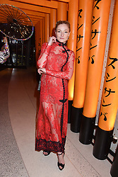 Clara Paget at Sambazonia presented by Sushisamba and Cool Earth at SushiSamba, 110 Bishopsgate, City of London England. 28 February 2017.